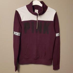 PINK by Victoria Secrets  1/4 zip sweatshirt S